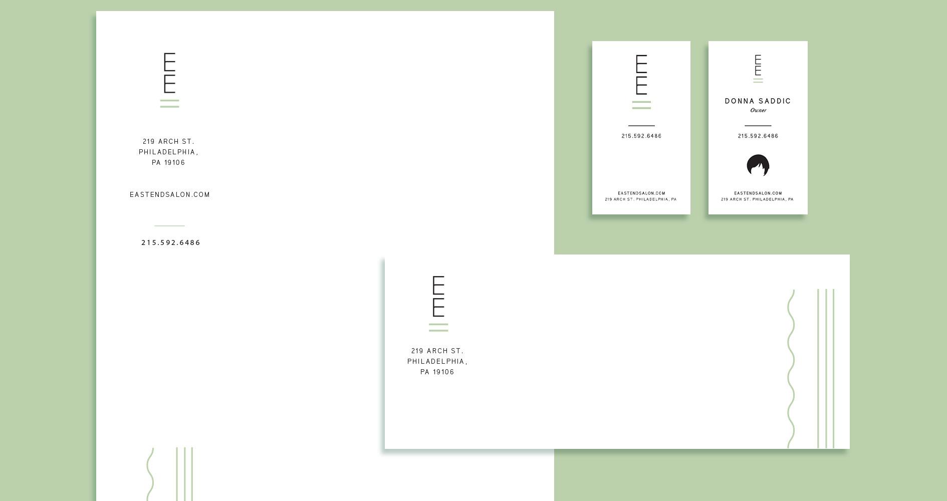 East End Salon Print Design