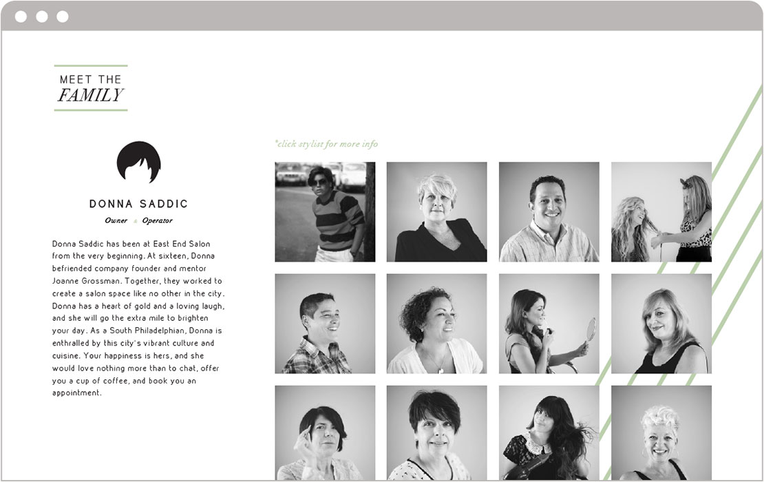 Philadelphia Hair Salon Website