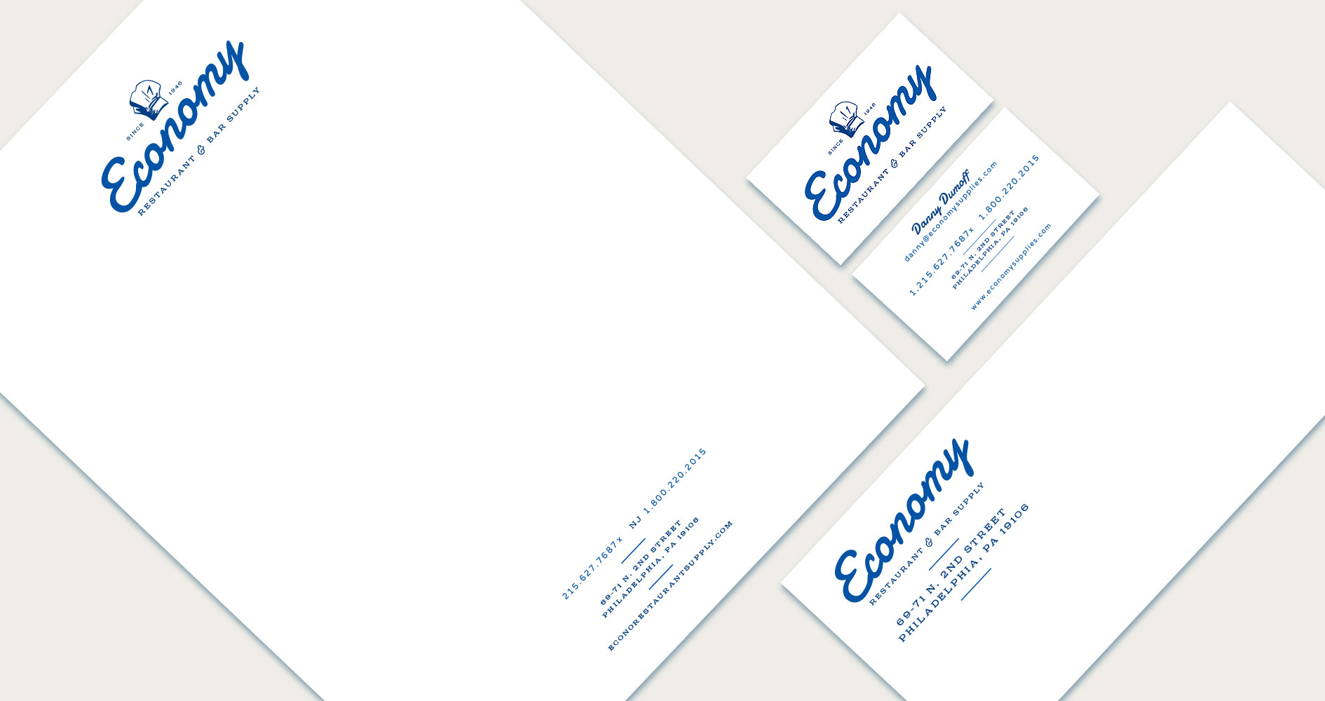 Economy Restaurant & Bar Supply Print Design